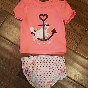Carter's two piece swimsuit size 18m